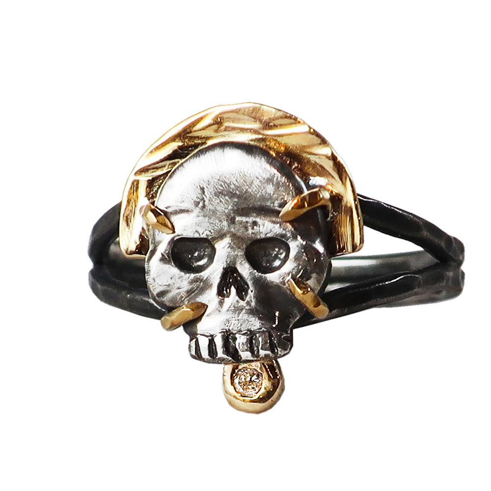 Skull and Diamond Ring