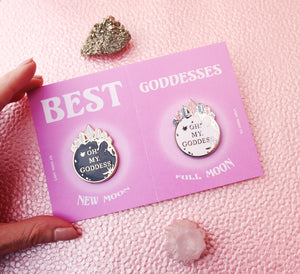 THE GODDESS BFF PIN SET (PRE-ORDER)