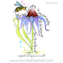 Floral: Bee & Coneflower {Phil 4:6}
