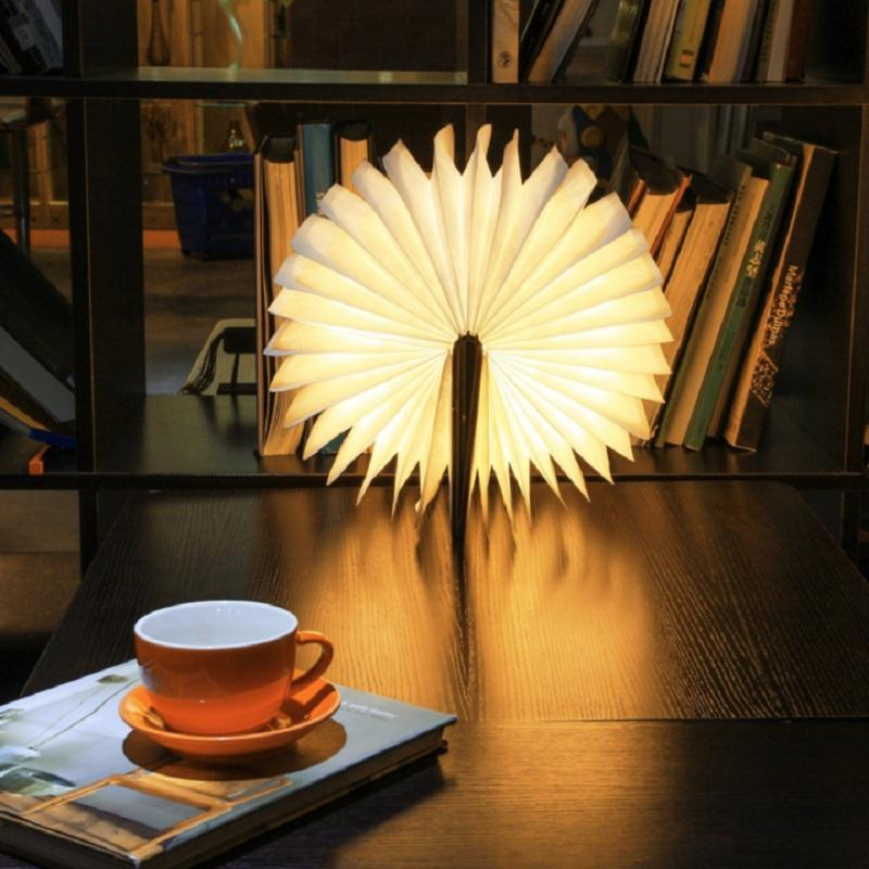 AllVirals Foldable Wooden Book Lamp