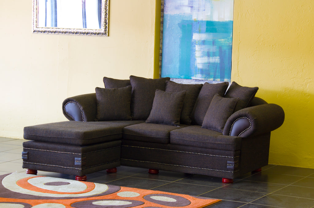 Corner Lounge Suite (reversible Chaise), Sharka Choc