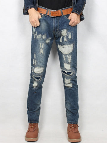 Men's Jeans Hole Straight Vogue