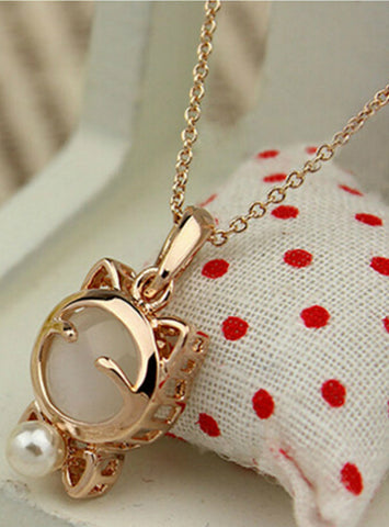 Fashion Jewelry Lucky Cat Necklace