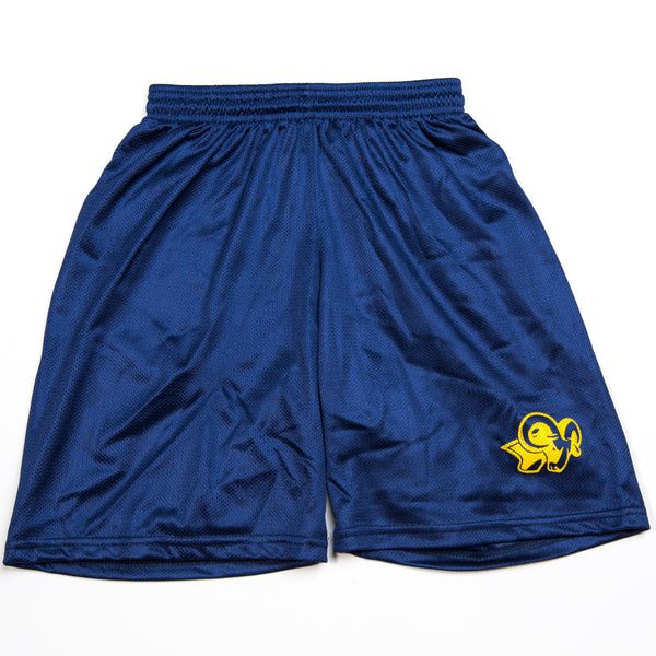 P.E MESH SHORT WITH LOGO