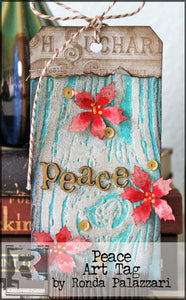 Peace Art Tag by Ronda Palazzari