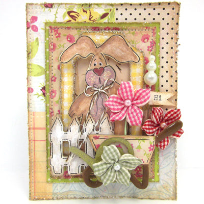 Perfect Pearls Bunny Card By Lisa M. Pace