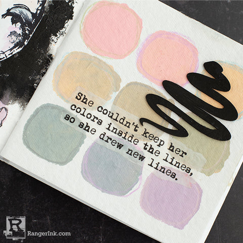 Dina Wakley Media Muted Palette Art Journal Page Step 10