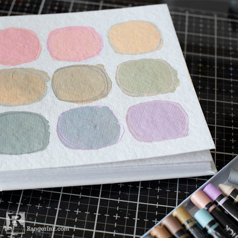 Dina Wakley Media Muted Palette Art Journal Page Step 4