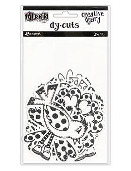 Dylusions Creative Dyary Dycuts - 3, 24pc