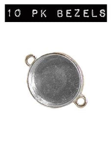 ICE Resin® Industrial Bezel Sterling Small Circle 10PK