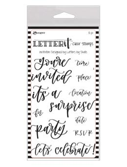 Letter It™ Clear Stamp Set - Invitation