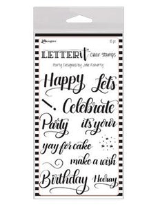 Letter It™ Clear Stamp Set - Party