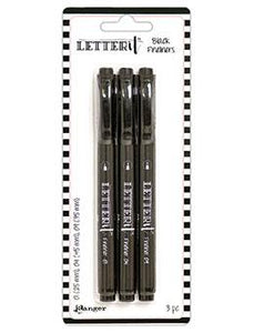 Letter It™ Fineliner Black Pens (3 Pack)