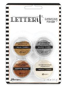 Letter It™ Embossing Powders Tinsels, 4pc