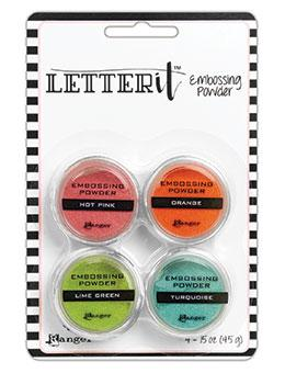 Letter It™ Embossing Powders Brights, 4pc