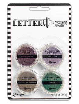 Letter It™ Embossing Powder 4PK, Graceful