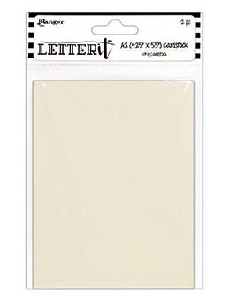 "Letter It™ Ivory A2 Cardstock 4.25"" x 5.5"", 12pc"