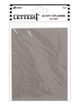 "Letter It™ Grey A2 Cardstock 4.25"" x 5.5"", 12pc"
