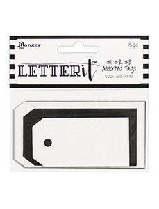 Letter It™ Black & White Assorted Tags, 18pc