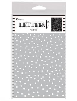 Letter It™ Background Stencil Dancing Dots