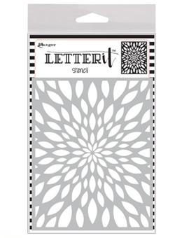 Letter It™ Background Stencil Flower Burst