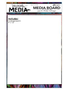 "Dina Wakley Media Board 9"" x 12"" 3pk"