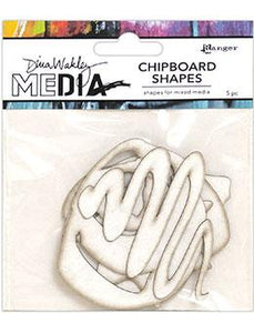 Dina Wakley Media Chipboard Shapes Basics