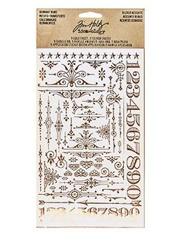 Tim Holtz® Idea-ology Paperie - Remnant Rubs - Gilded Accents