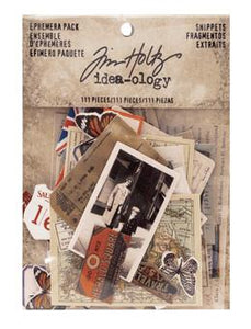 Tim Holtz® Idea-ology Paperie - Ephemera Pack - Snippets