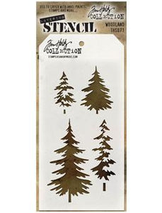 Tim Holtz® Stampers Anonymous - Layering Stencils - Woodland