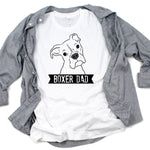 T-Shirts - Illustrated Boxer Dad T-Shirt