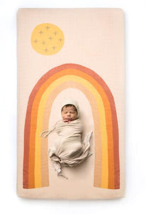 Rainbow Crib Sheet from Coveted Things | Bohemian Mama