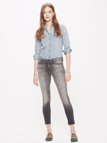 Looker Ankle Fray Jean by Mother Denim