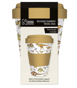 Natural History Museum Dinosaurs Reusable Bamboo Travel Mug