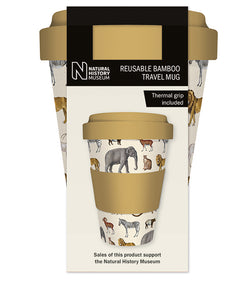 Natural History Museum Safari Reusable Bamboo Travel Mug