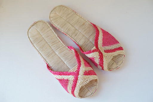 Pink Striped Sandals
