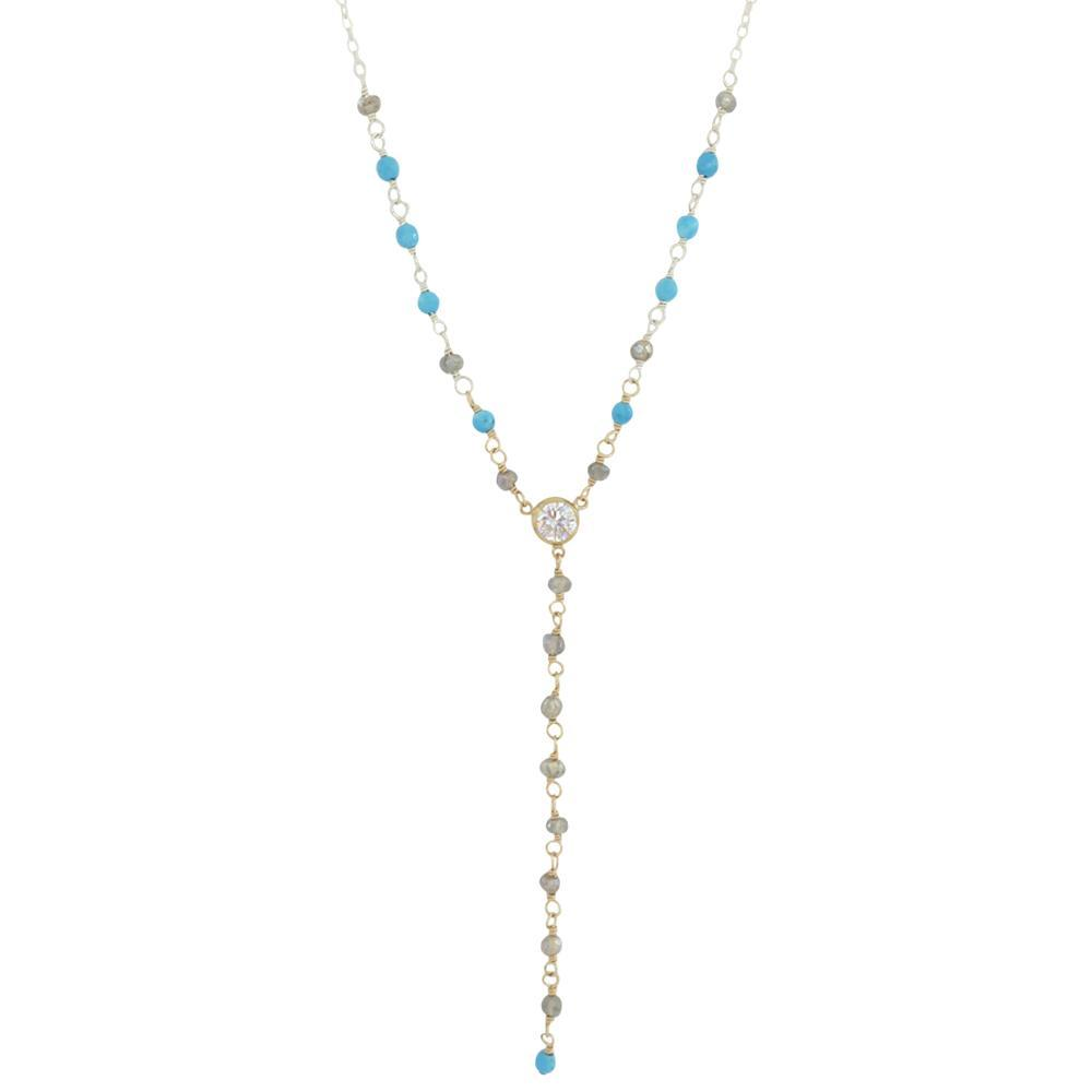 Sophia Y-Necklace in Turquoise