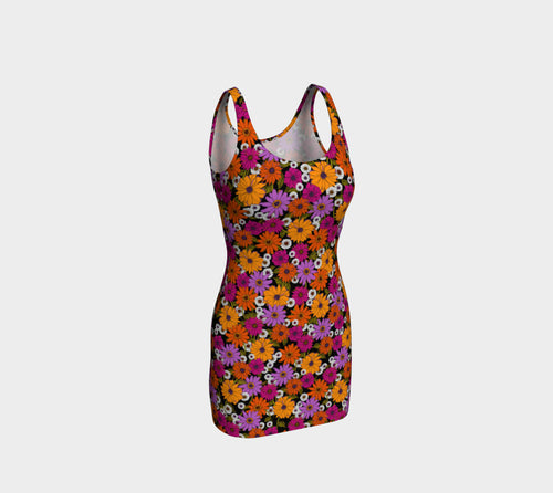 Retro Floral Fitted Dress