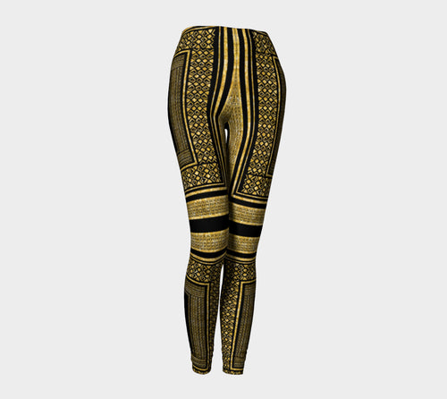 Gold Foil Frame Leggings