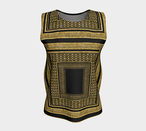 Gold Foil Frame Loose Tank Top/Long Length