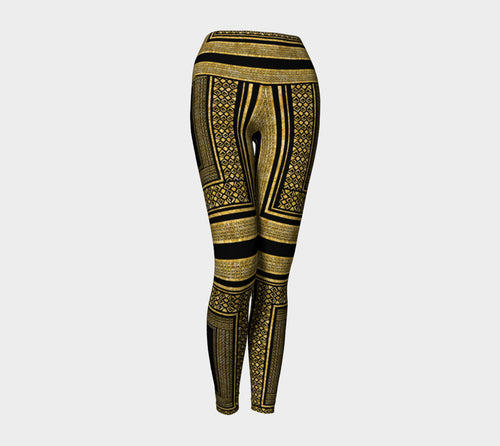 Gold Foil Frame Yoga Leggings