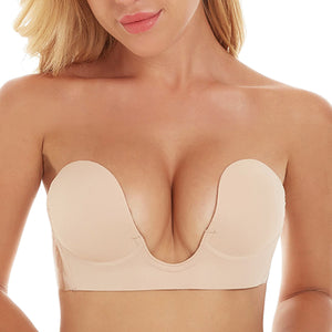CleavagePlunge®  Backless, Strapless, Push-up, Stick-on Bra - ShopCleavageCouture