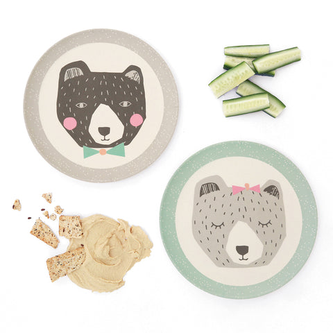 Love_Mae_Bamboo_Plates_Mama_Papa_Bear_Eco-Friendly_Children's_Dinnerware