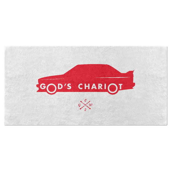 2002GW God's Chariot Beach Towel - Red