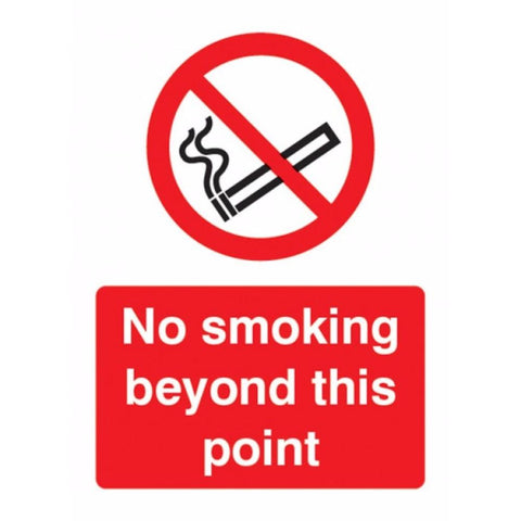 No smoking beyond this point sign from Floorsaver