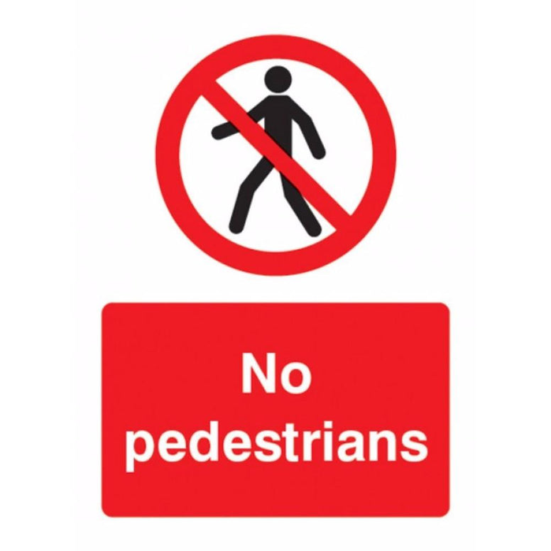 No pedestrians sign from Floorsaver