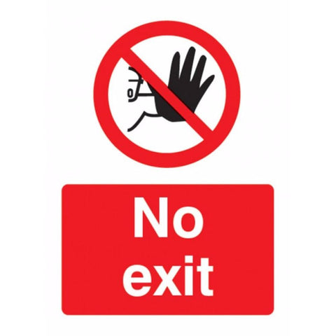 No exit sign from Floorsaver