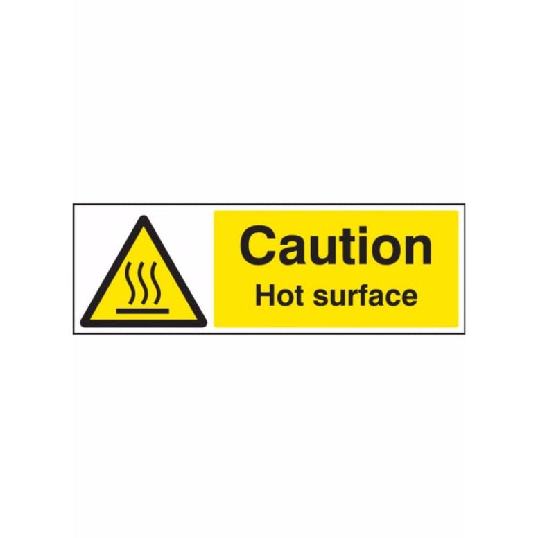 Caution hot surface sign from Floorsaver