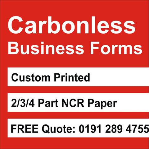 Carbonless NCR Books custom printed
