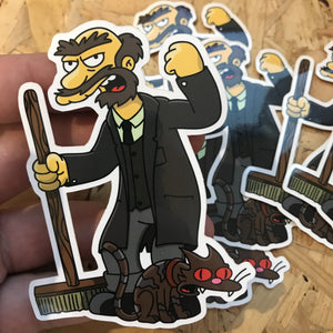 Groundskeeper Wilch Hogfield Sticker